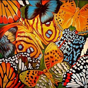 Butterfly Painting - Butterfly Abstract Commission by Marcia Baldwin