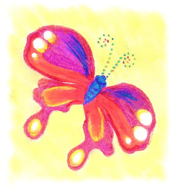 Single Butterly Pastel - Butterfly by Chandelle Hazen