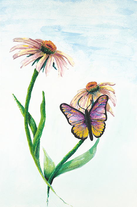 Flowers Painting - Butterfly Dance by Deborah Ellingwood