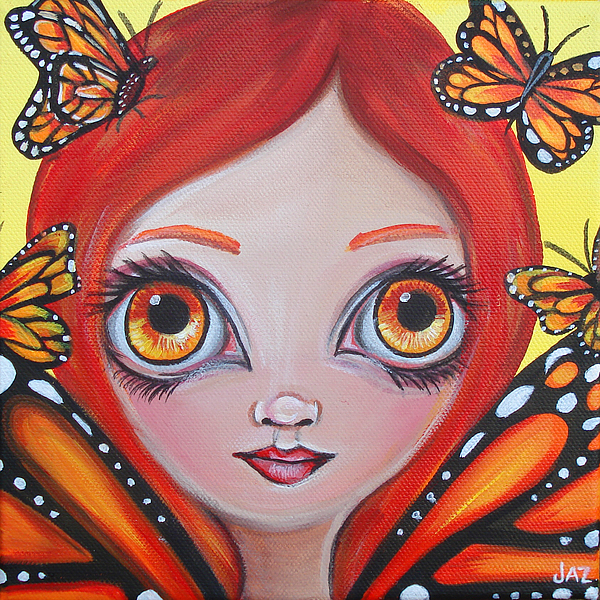 Butterflies Painting - Butterfly Fairy by Jaz Higgins