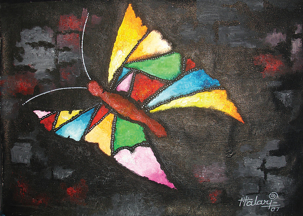 Butterfly Painting by Ramesh Halari