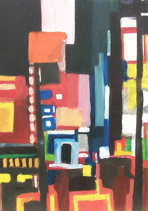 Cityscape Painting - Bway At 46th by Ron Erickson
