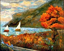 Sea Painting - By The Sea by Gail Kirtz