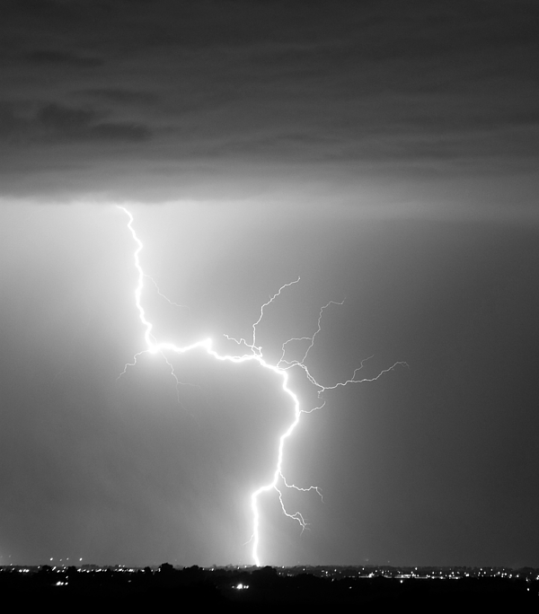 City Photograph - C2g Lightning Strike In Black And White by James BO  Insogna