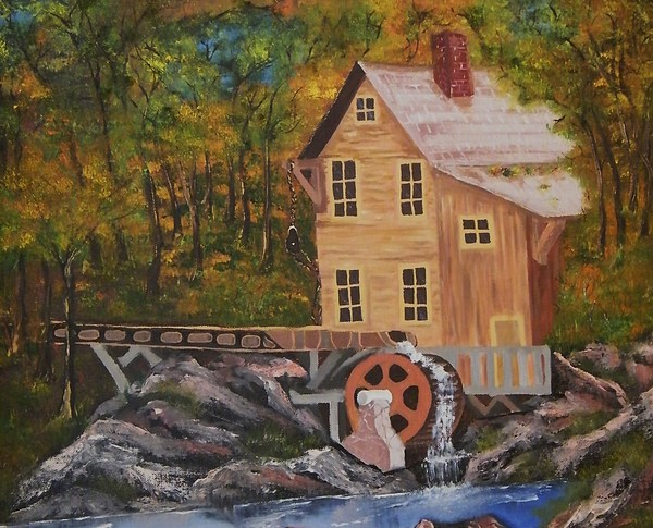 Cabin Creek Clothing: Cabin Creek Painting By Larry Doyle