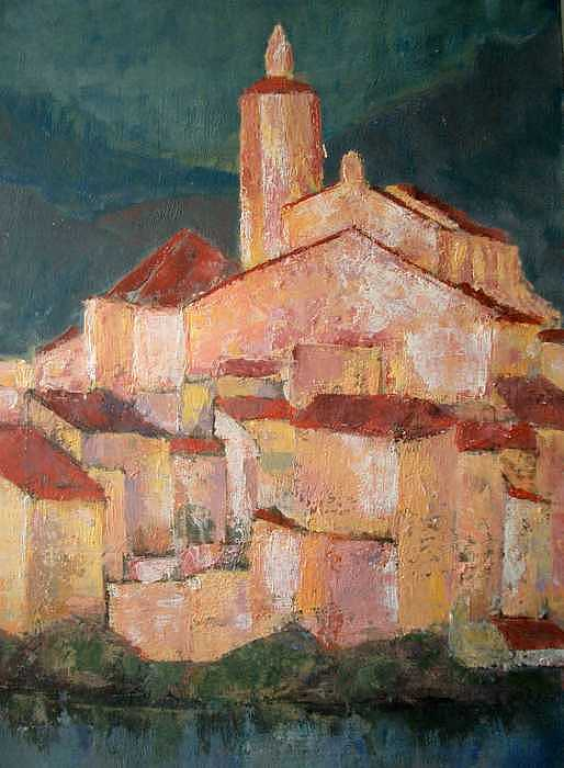 Cadaques Painting by Emilio B Campo- Diaz