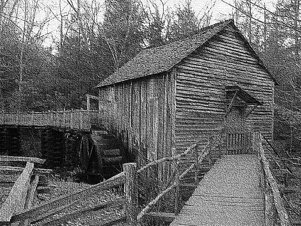 Cades Cove Grist Mill In Cades Cove Photograph by Steve Carpenter