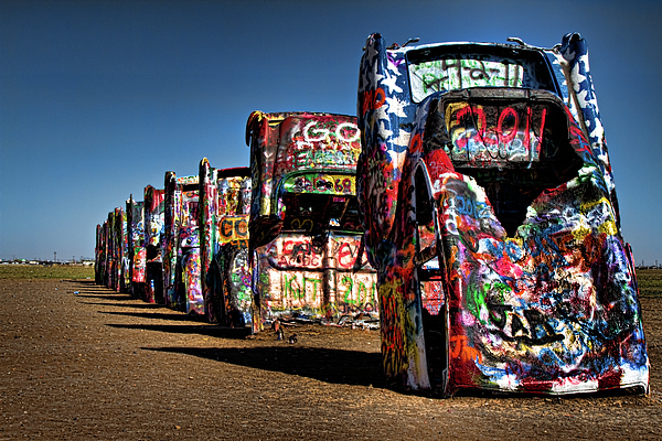 Amarillo Photograph - Cadillac Ranch by Lana Trussell