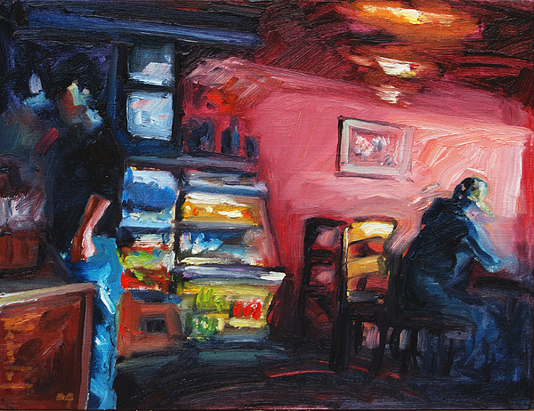 Cafe Painting - Cafe Boulange by Rick Nederlof