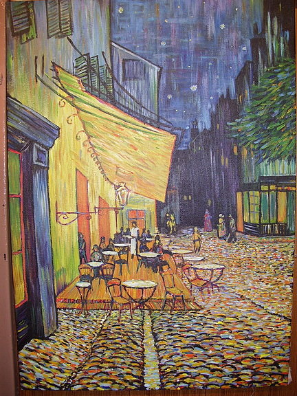 Cafe De Night Painting by Atinant  Naranong