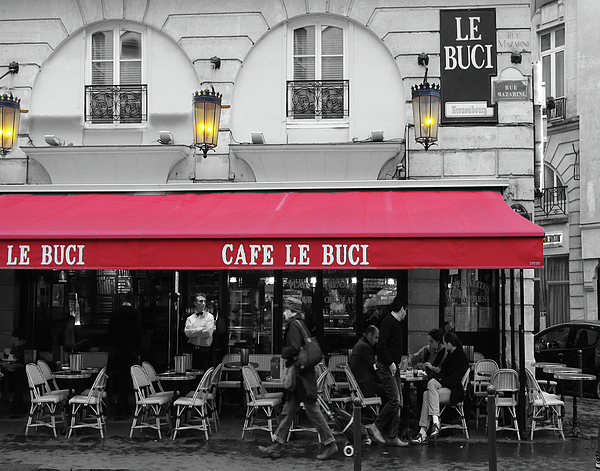 Paris Photograph - Cafe Le Buci by Tom Reynen