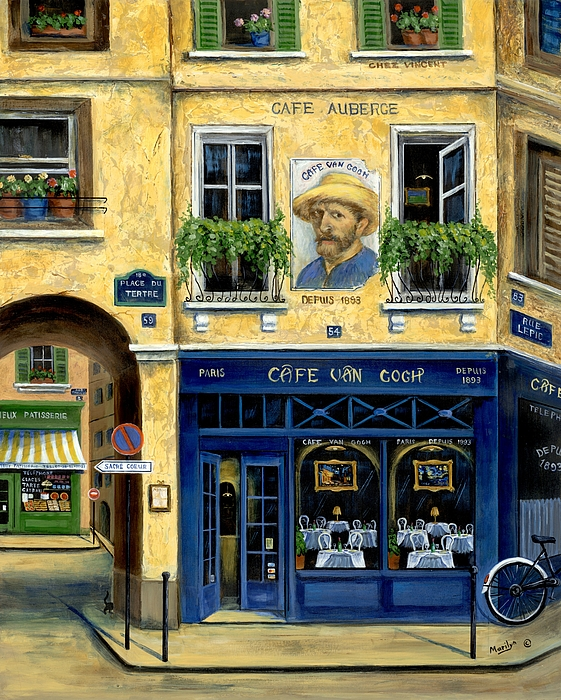 Europe Painting - Cafe Van Gogh by Marilyn Dunlap