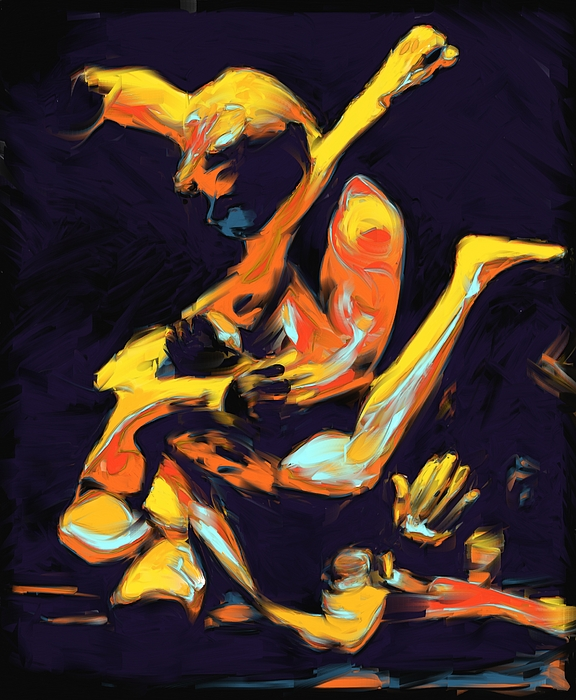 Mma Painting - Cage Fighters by Deborah Lee