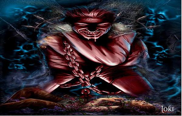 Dark Fantasy Digital Art - Caged Rage by Loki Gwyn