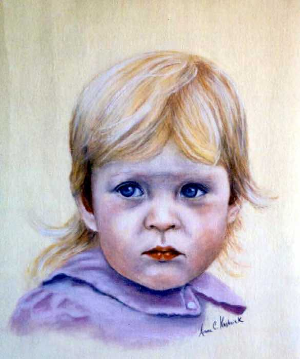 Caitlin Painting by Anne Kushnick