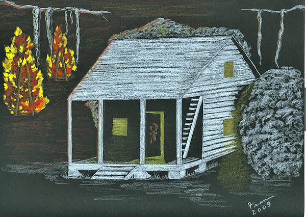 Cajun Bonfires Painting by Fran Hoffpauir