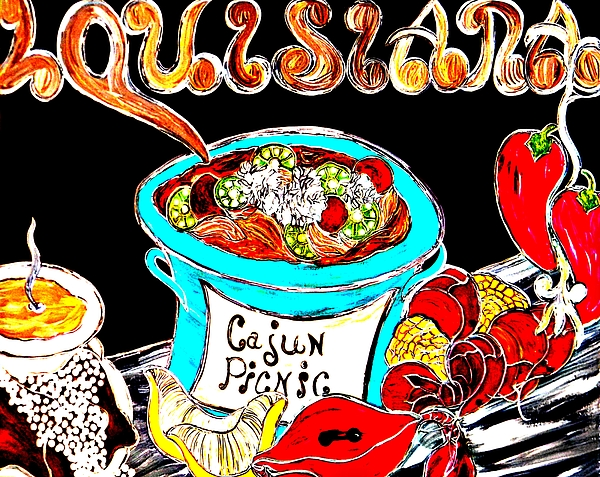 Louisiana Painting - Cajun Picnic No.2 by Amy Carruth-Drum