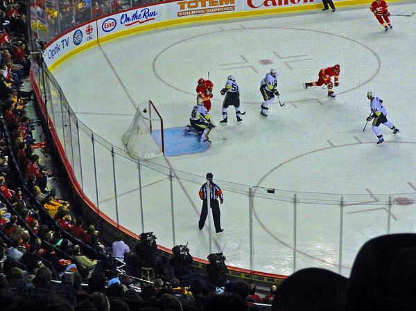Al Bourassa Photograph - Calgary Flames Home Opener by Al Bourassa