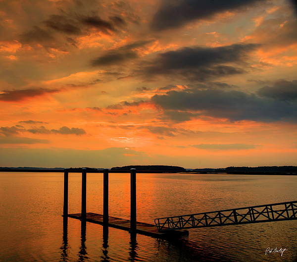 Clouds Photograph - Calibogue Dock by Phill Doherty