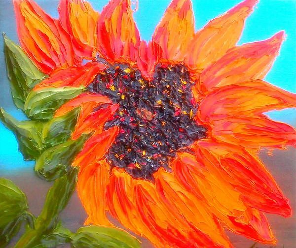 California Orange Sunnflower  Painting by Dunbars Modern Art