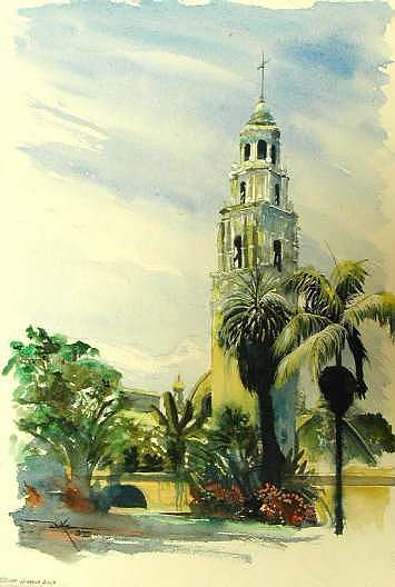 California Tower II Painting by Duke Windsor