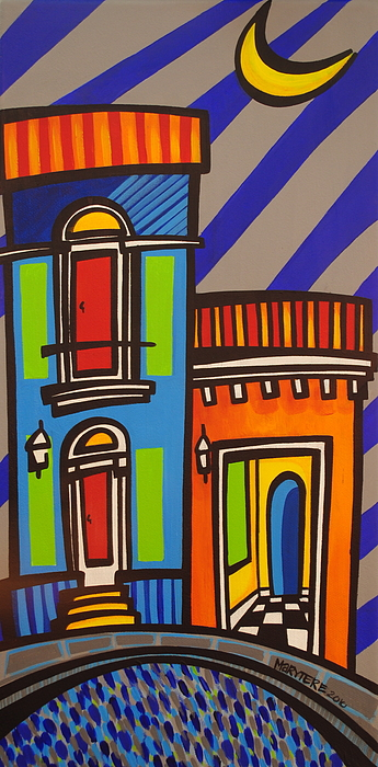 Puerto Rico Painting - Calle Luna by Mary Tere Perez
