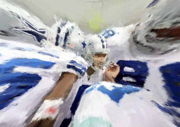 Dallas Cowboys Digital Art - Calling The Play by Carrie OBrien Sibley