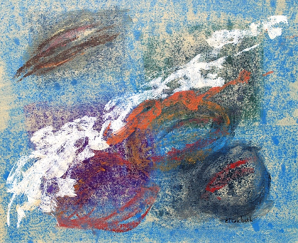 Abstract Painting - Calming Abstract 2 Of 5 by Beth Maddox
