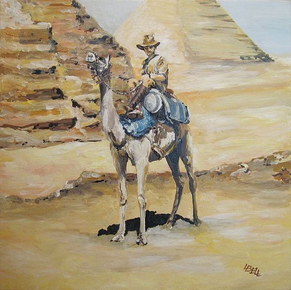 Light Horse Painting - Camel Corp At Ease by Leonie Bell
