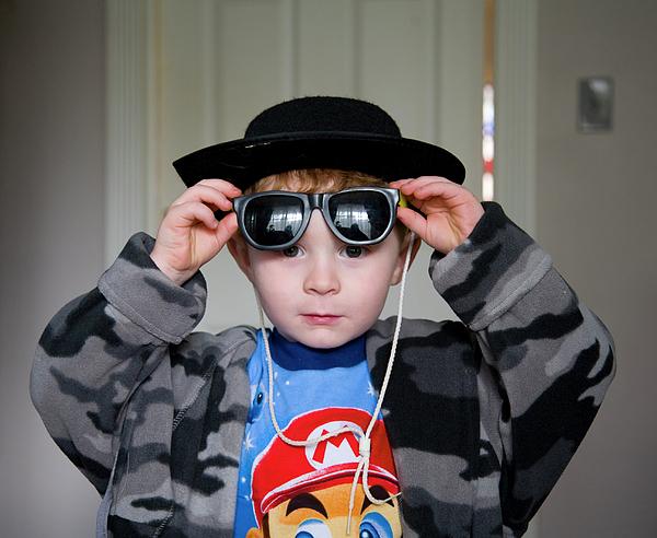 Boy Photograph - Camo Cowboy by Deborah Molitoris
