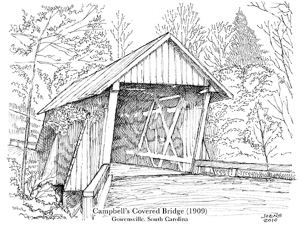 Pencil Drawings Of Covered Bridges