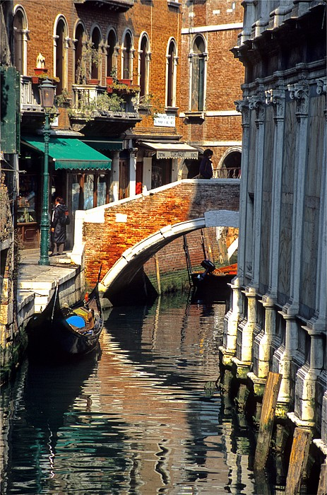 Venice Photograph - Canal Next To Church Of The Miracoli In Venice by Michael Henderson