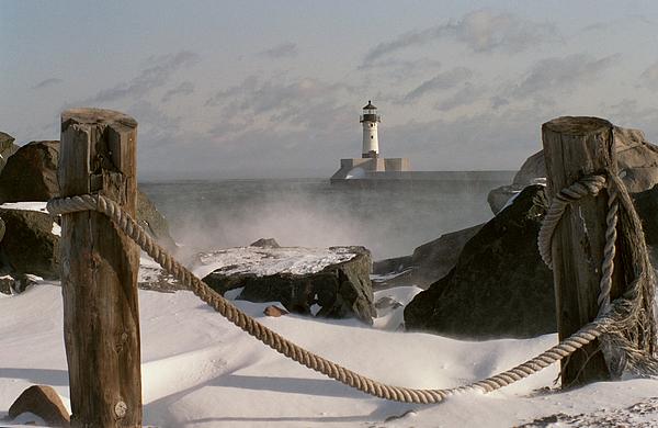 Lighthouse Photograph - Canal Park Lighthouse by Heidi Hermes