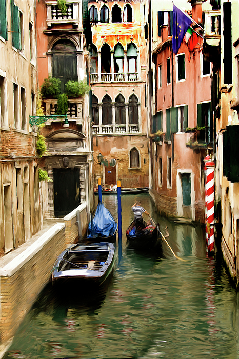 Venice Digital Art - Canals Of Venice by Susan  Lipschutz