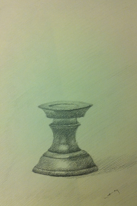 Pencil Ceramic Art - Candle Stand Study by Krishnamurthy S