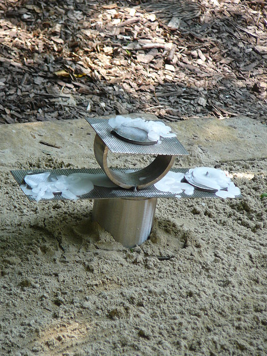 Indoor Outdoor Sculpture - Candleholder by Tyler joseph Schmidt