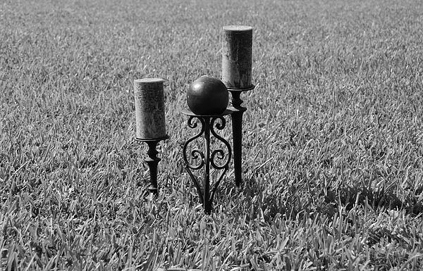 Black And White Photograph - Candles In Grass by Rob Hans