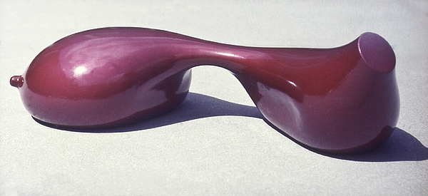 Candy Apple Red Paint Sculpture - Candy Apple Breast by Michael Rutland