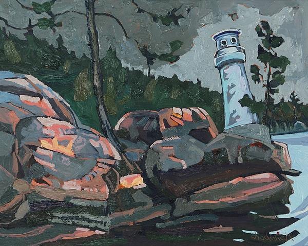 1857 Painting - Canoe Lake Light by Phil Chadwick
