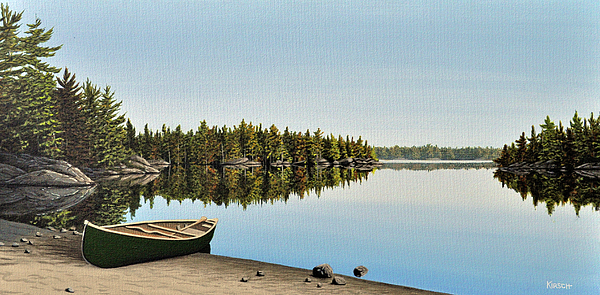 Canoe Painting - Canoe The Massassauga by Kenneth M  Kirsch
