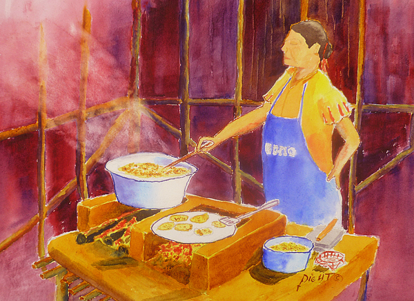 Boiling Oil Painting - Cantina Kitchen by Buster Dight