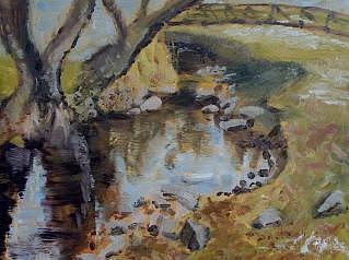 Plein Air Painting - Canyon Creek by Julieanne Nielsen