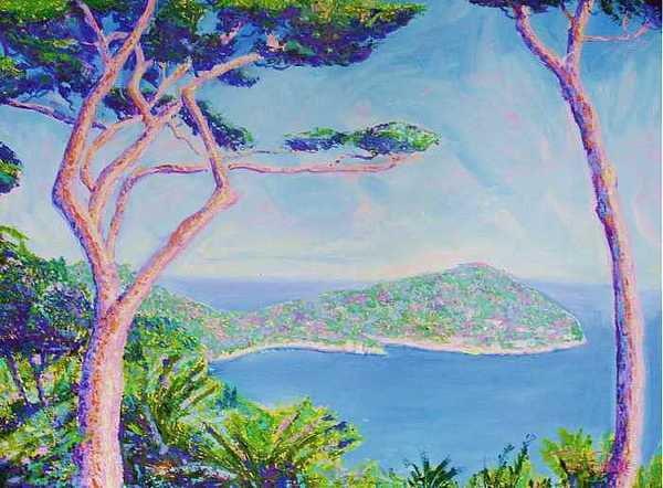 Oil Painting - Cap Ferat Provence by Pixie Glore