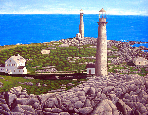 Artwork Painting - Cape Ann Twin Towers by Frederic Kohli