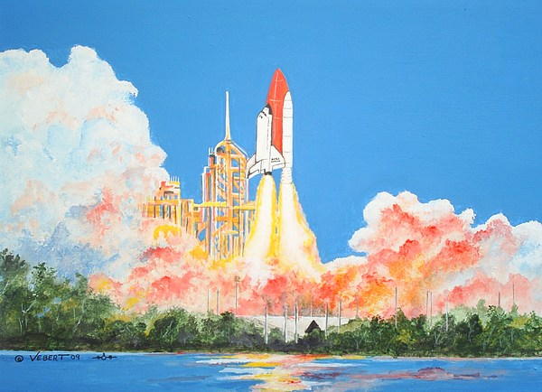 Space Painting - Cape Canaveral by Dennis Vebert