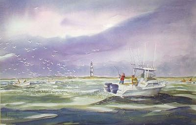 Cape Lookout Blitz Painting by Bob Pittman