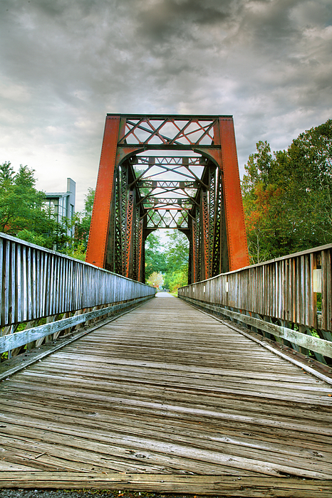 Trail Photograph - Caperton Trail And Bridge by Steven Ainsworth