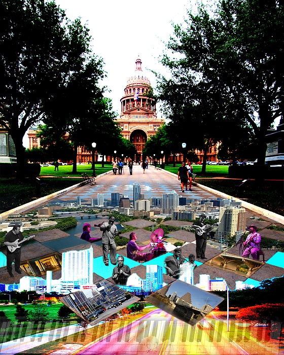 Austin Photograph - Capital Collage Austin Music by James Granberry