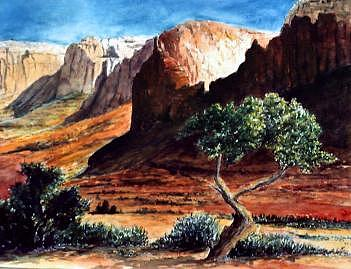 Landscape Painting - Capitol Reef  by Veda Hale