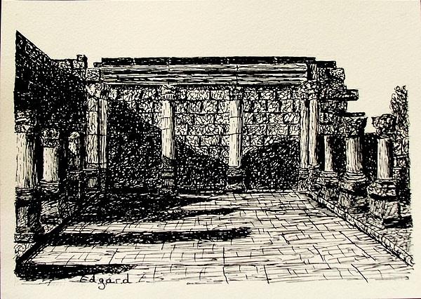 Cappernahoum Drawing by Edgard Loepert